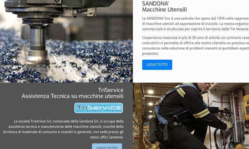 Sito web Sandonà Italia